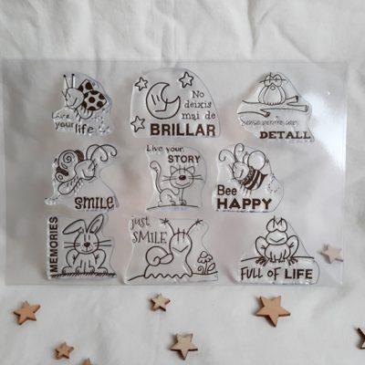 Planxa de segells acrílics