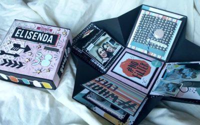 Exploding Box de regalo para Elisenda