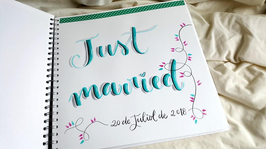Libro de firmas de boda par la mesa de firmas