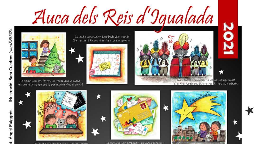 Ilustración del Auca de los Reyes Magos de Igualada