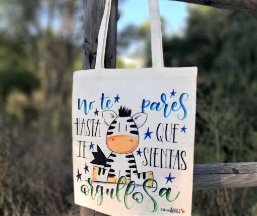 Tote bag con ilustración original sara&BUGS