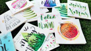 Postales de Navidad con Lettering
